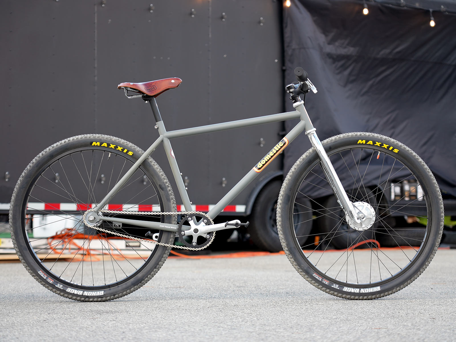 domestic bomber steel city mountain bike