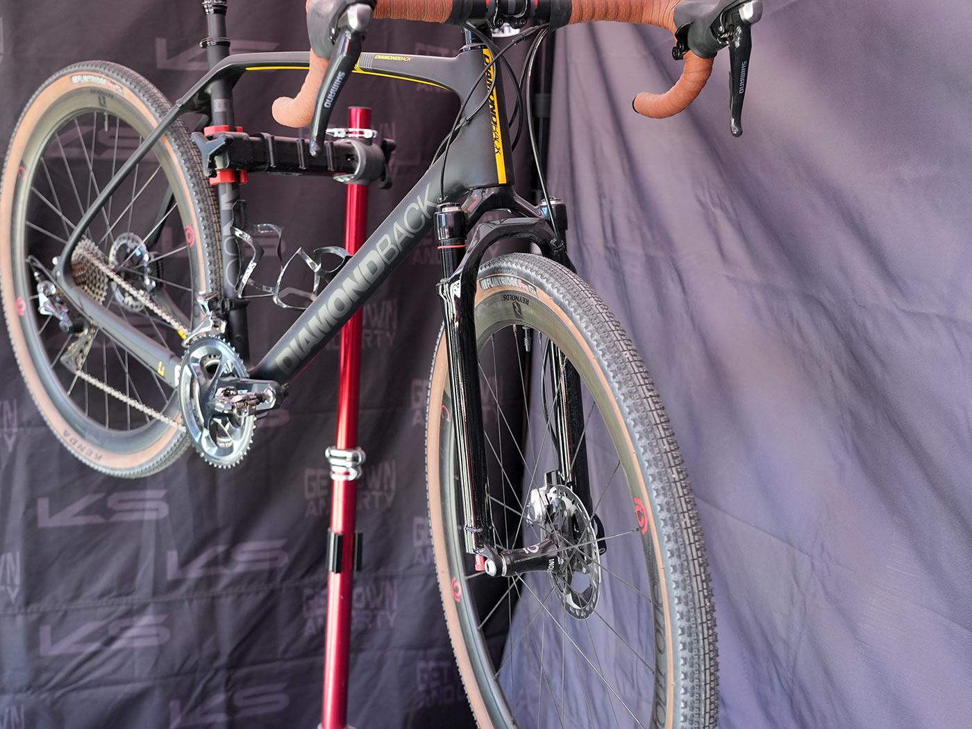 KS Rage iS suspension dropper seatpost & prototype carbon gravel suspension fork pop up thumbnail