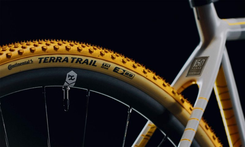 Continental 150th limited edition Terra Trail tires on a OPEN UP gravel bike, teaser