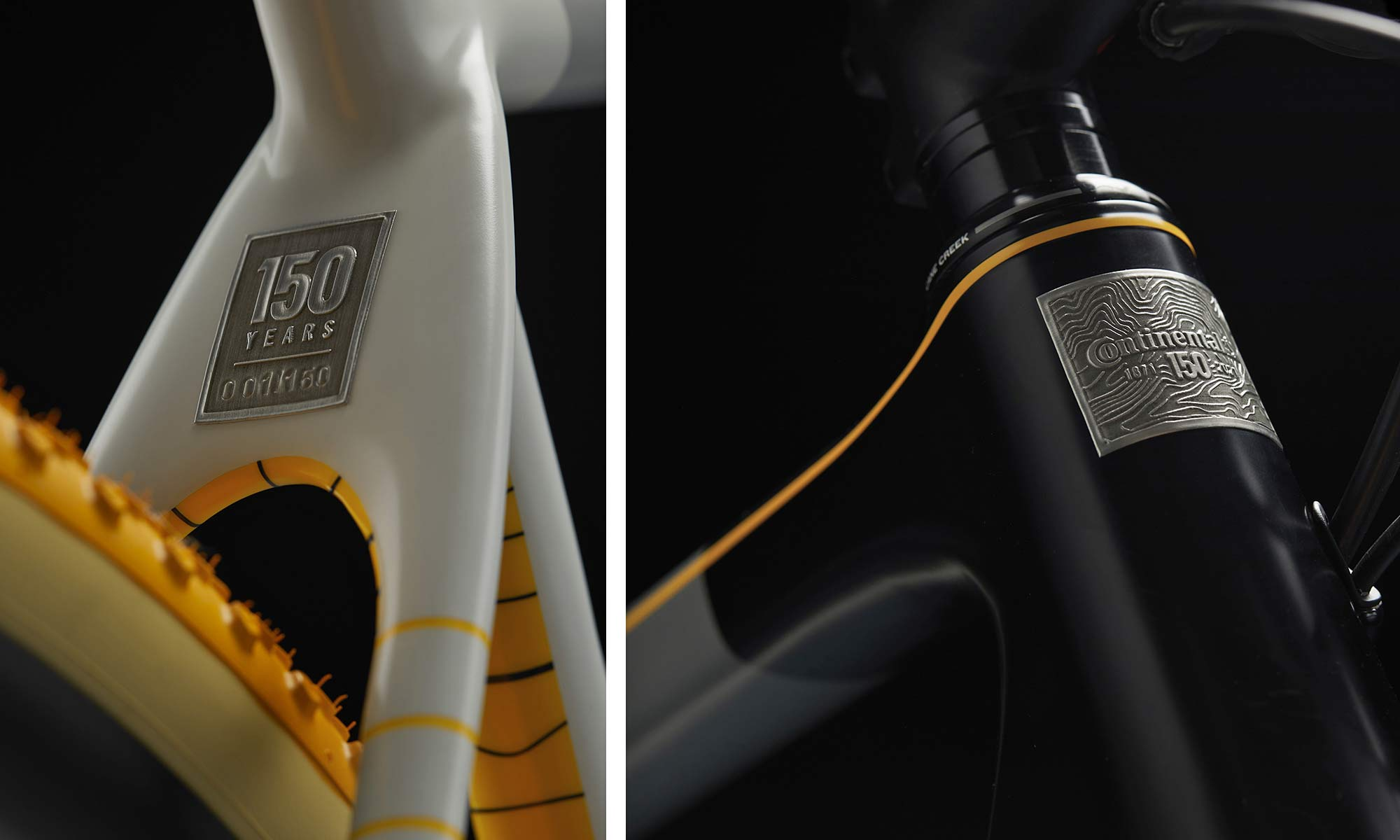 Continental 150th limited edition Terra Trail tires on a OPEN UP gravel bike, details