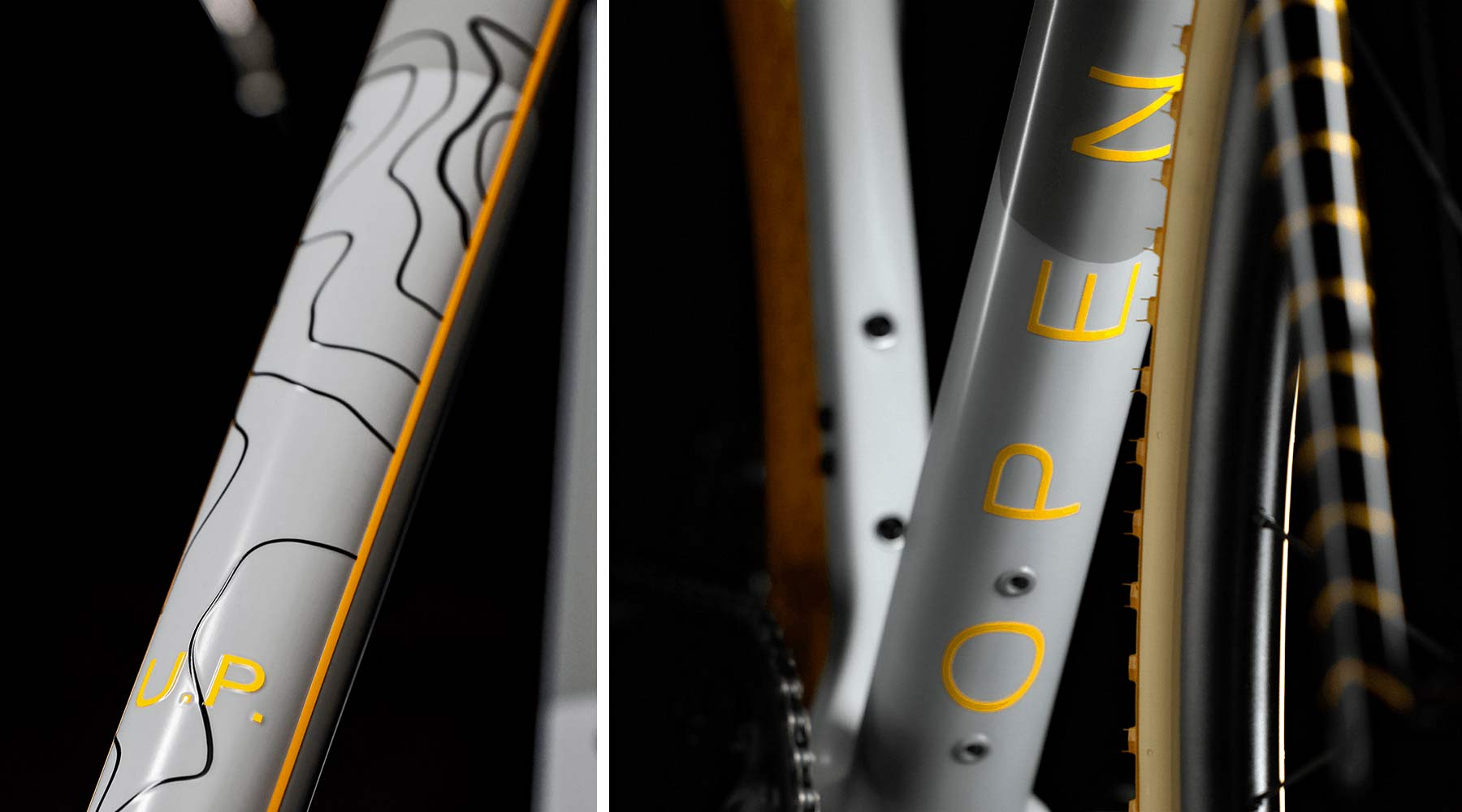OPEN UP limited edition Continental 150th Anniversary gravel bike, paint details