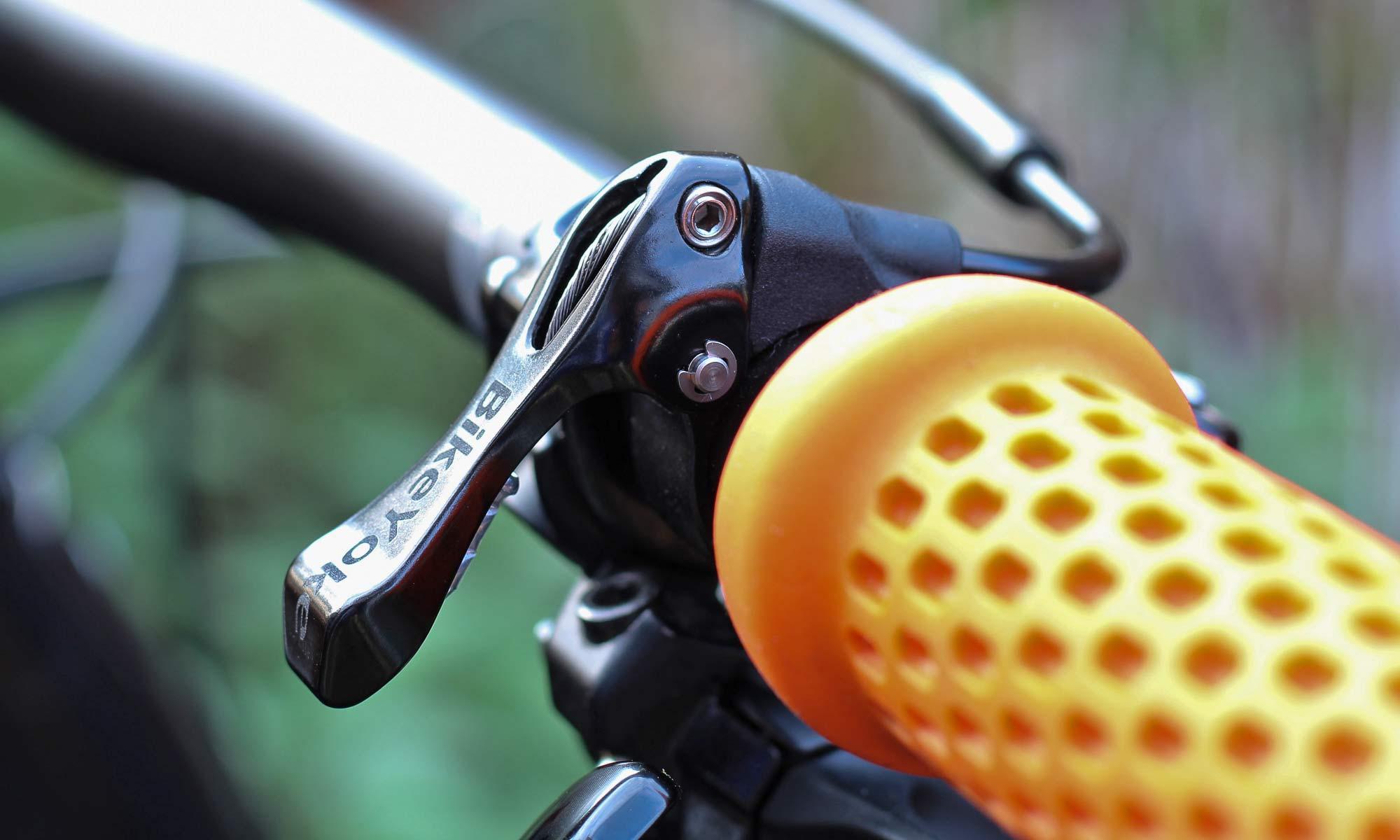 New BikeYoke 2X dropper Remote, on bar
