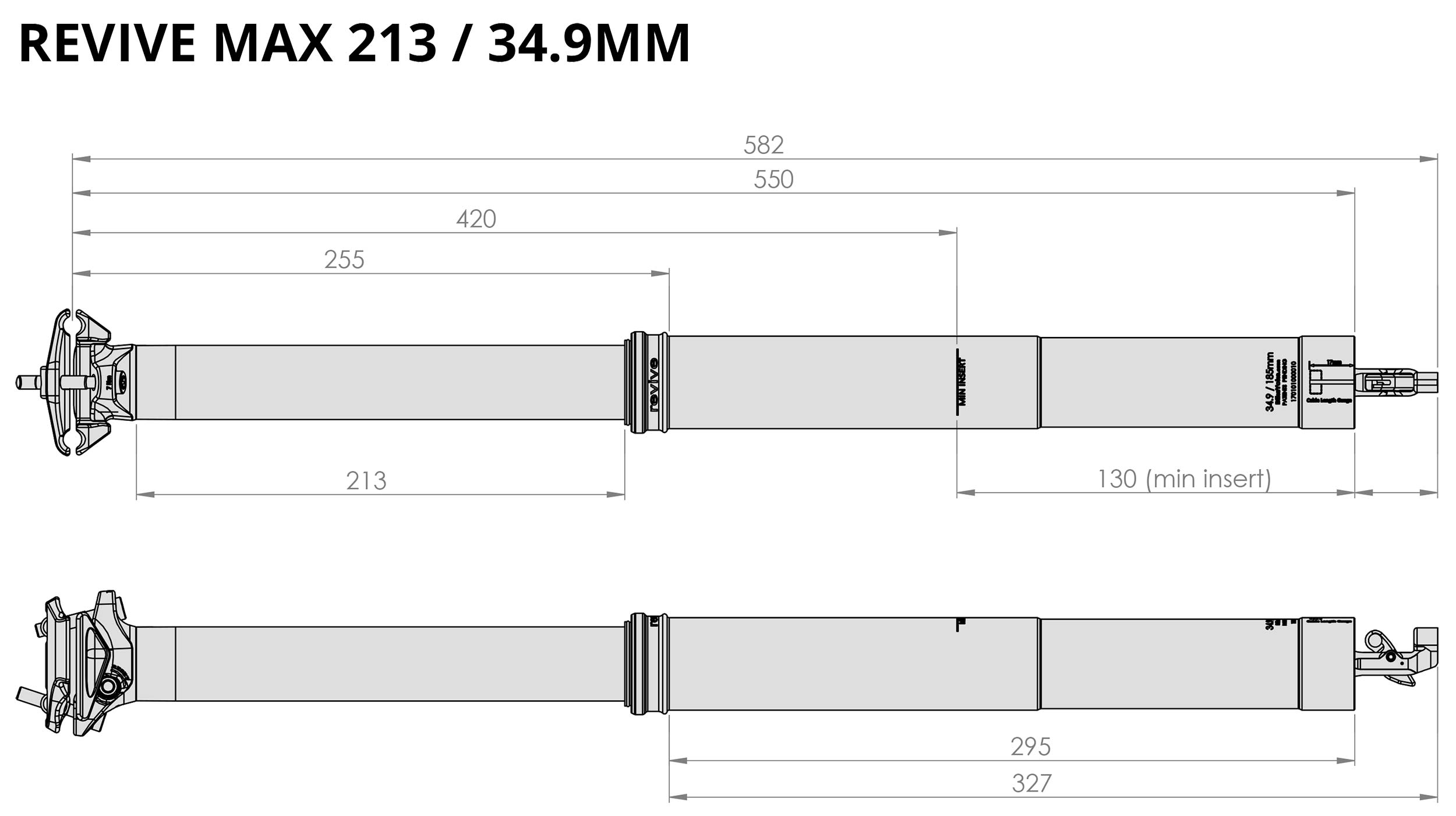BikeYokeRevive Max extends 34.9 dropper to 213mm get v2 upgrades