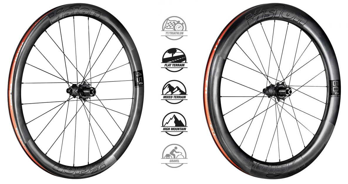 fas vision metron 45 sl and 60 sl aero road bike wheels