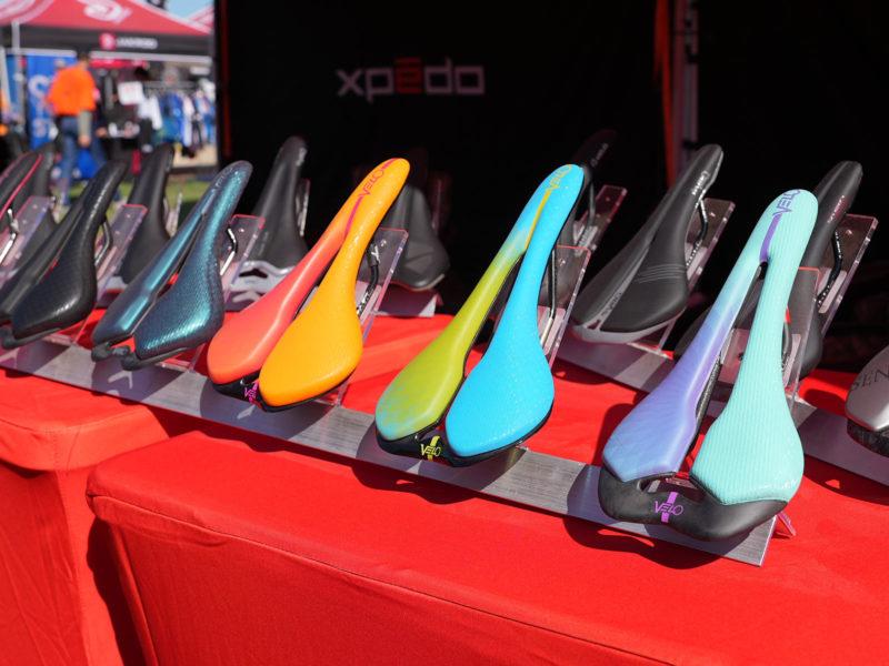 rainbow colored velo angel carbon fiber road bike saddles