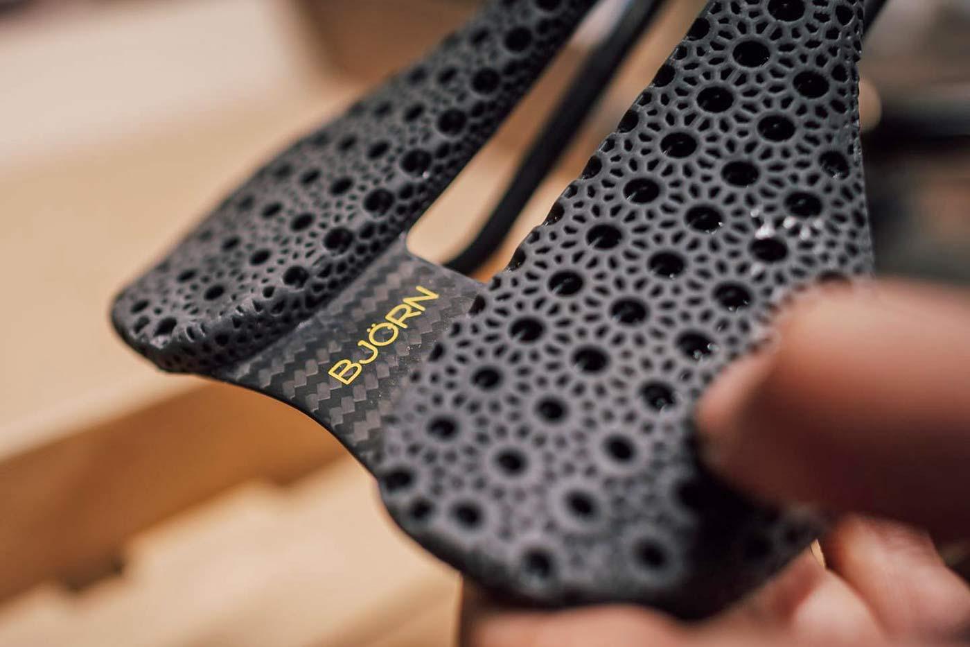 Bjorn Cycles Setka ultralight carbon 3D-printed padding detail