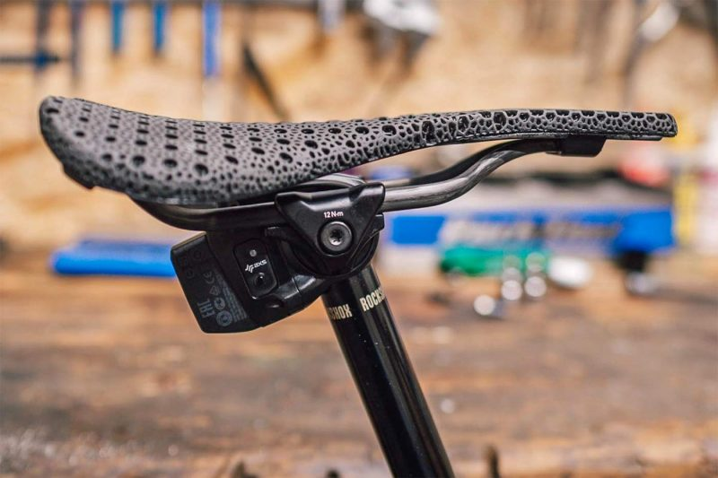 Bjorn Cycles Setka ultralight carbon 3D-printed padded saddle 135g, AXS dropper