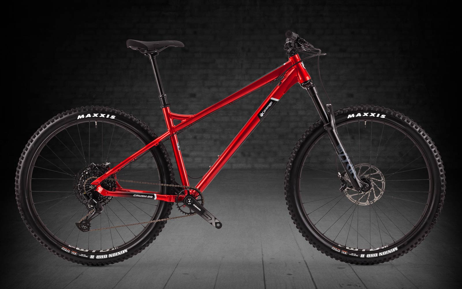 "2022 orange crush pro 29"" hardtail mountain bike aluminium frame red"