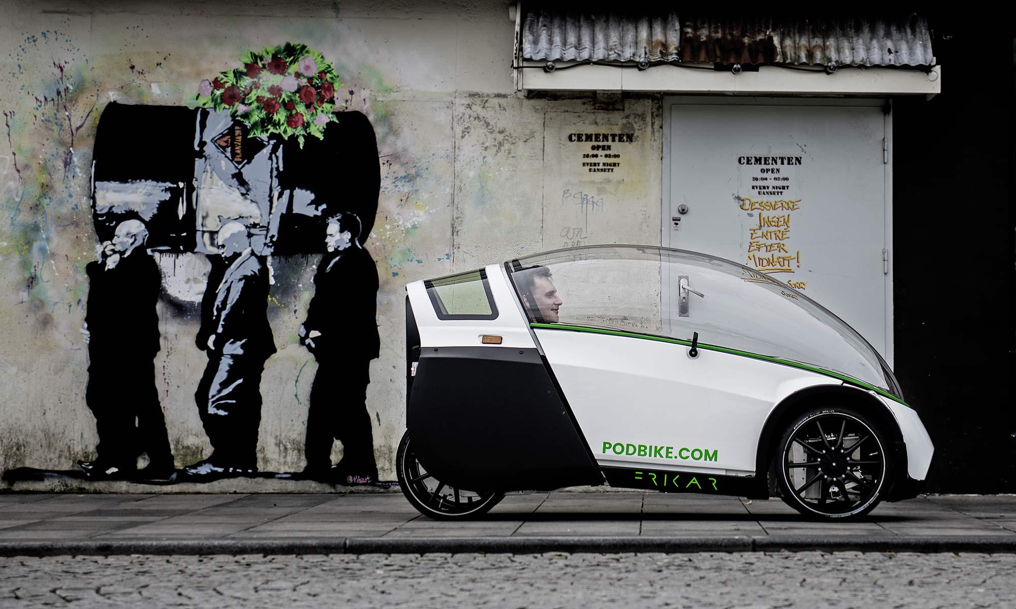 PodBike Frikar x Storck enclosed e-bike pedelec e-velomobile
