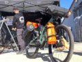 aeroe waterproof bikepacking frame bags and pannier bags with aerodynamic design