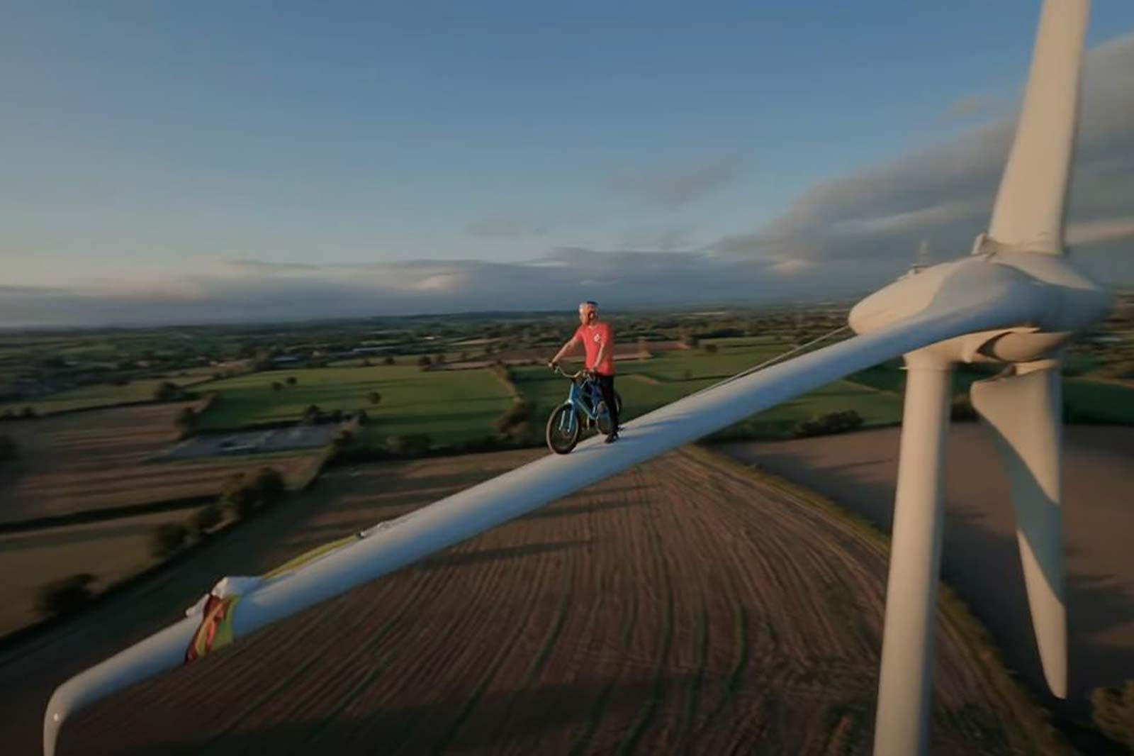 Must Watch: Danny MacAskill rides along Wind Turbine Blade in Climate Games