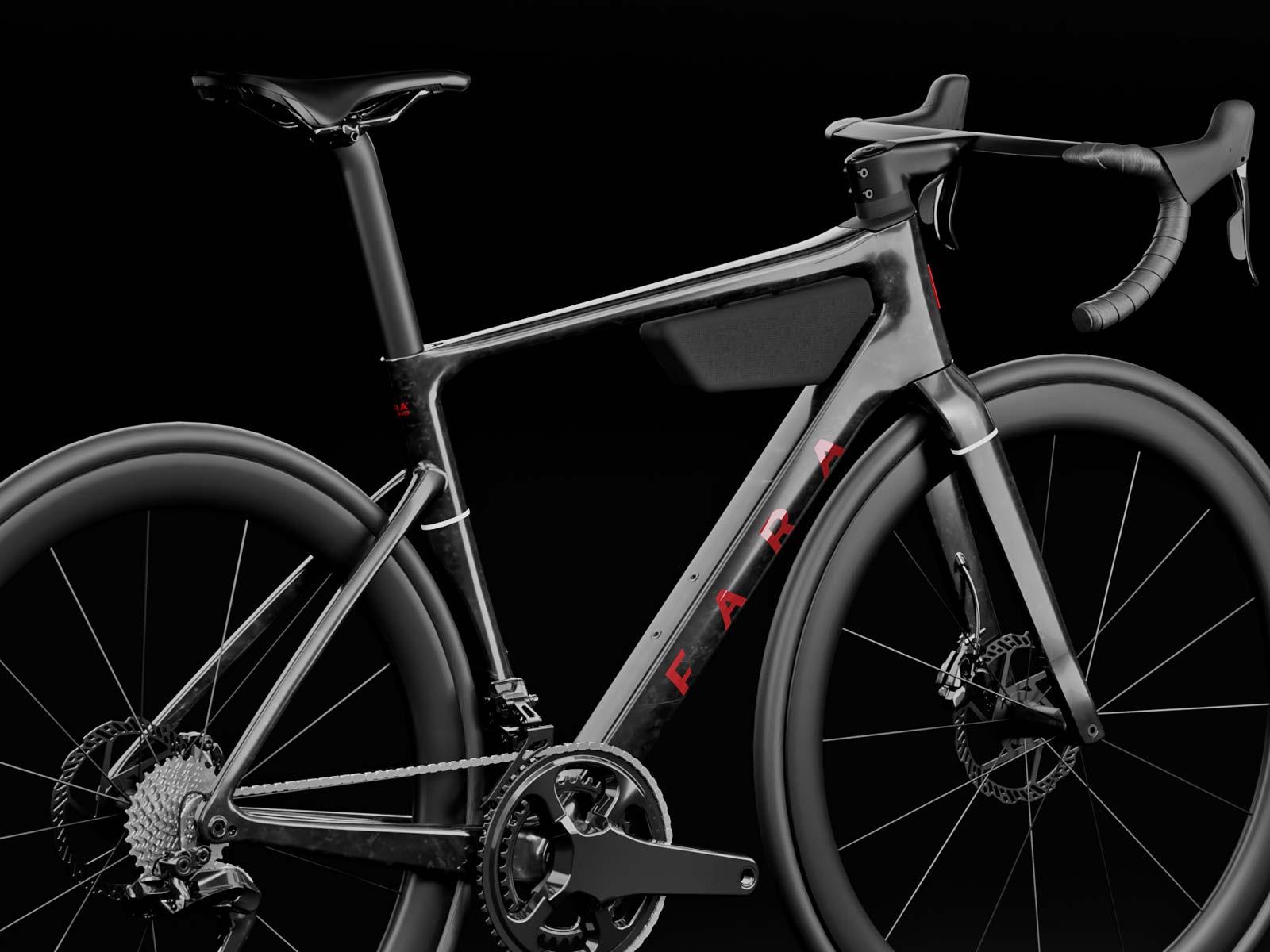 Fara F/RD aero carbon udholdenhed eventyr terrængående cykel, vinklet bag