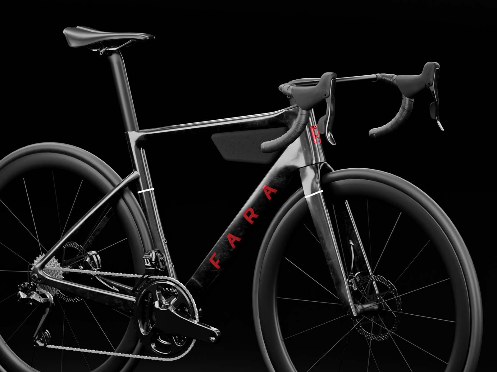 Fara F/RD aero carbon udholdenhed eventyr terrængående cykel, vinklet front