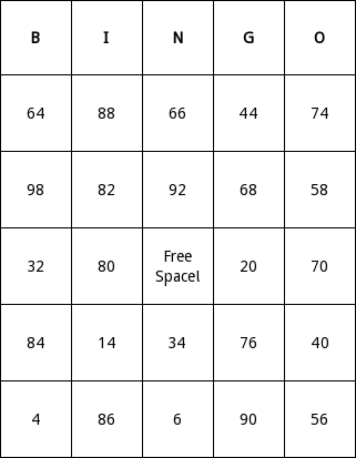 Even Numbers Bingo Cards