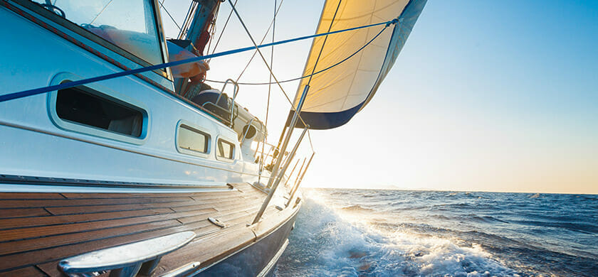 Sail boat on water| Marine Wire supply