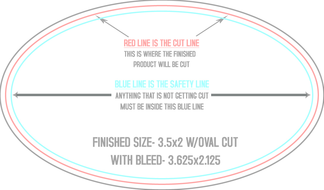 Oval Business Cards CardSox - Business card printable template