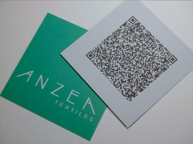Anzea Textiles Business Cards