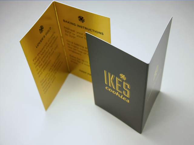 Ikes cookies foldover gold foil cooking instructions