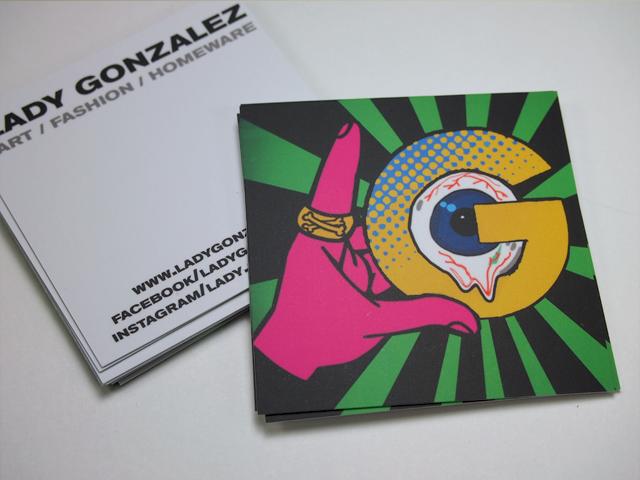 Lady Gonzalez Square Business Cards