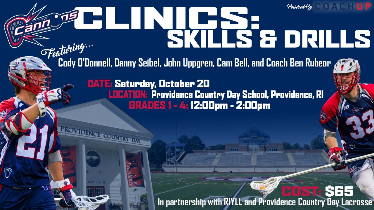 Boston Cannons Skills and Drills Clinic