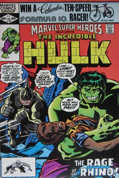 Marvel Super-Heroes #105 comic books for sale