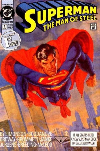 Superman: The Man of Steel comic books