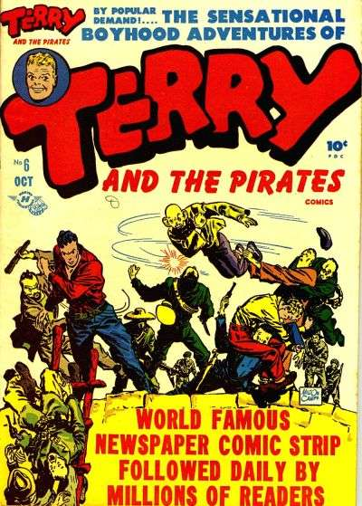 Terry-and-the-Pirates-1947-series-6-in-Fine-condition-Charlton-comics-bh