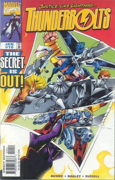Thunderbolts 1997 series # 21 near mint comic book