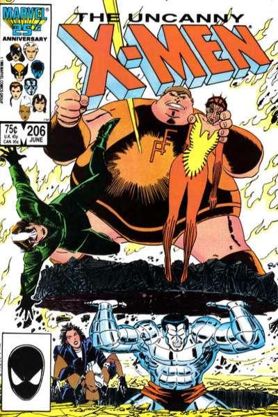 Uncanny X-Men #206 comic books for sale