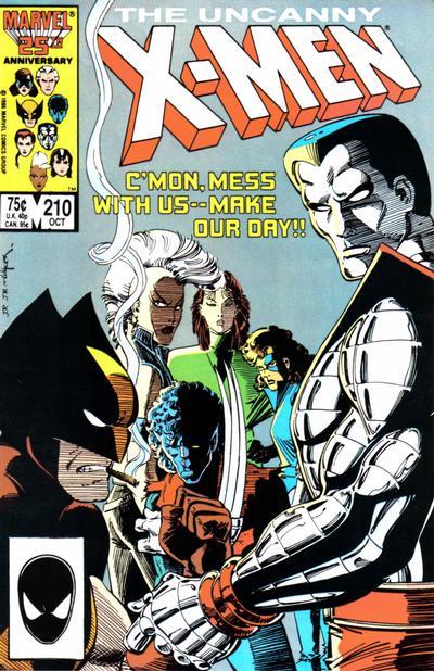 Uncanny X-Men #210 comic books for sale