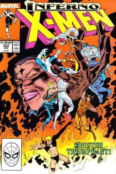 Uncanny X-Men #243 Comic Books - Covers, Scans, Photos  in Uncanny X-Men Comic Books - Covers, Scans, Gallery