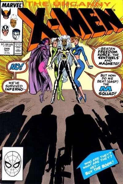Uncanny X-Men #244 Comic Books - Covers, Scans, Photos  in Uncanny X-Men Comic Books - Covers, Scans, Gallery