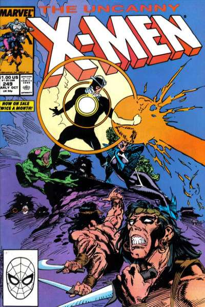 Uncanny X-Men #249 Comic Books - Covers, Scans, Photos  in Uncanny X-Men Comic Books - Covers, Scans, Gallery