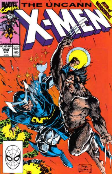 Uncanny X-Men #258 Comic Books - Covers, Scans, Photos  in Uncanny X-Men Comic Books - Covers, Scans, Gallery