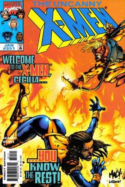 Uncanny X-Men #351 comic books for sale