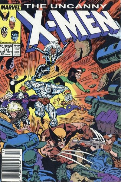 Uncanny X-Men #238 Comic Books - Covers, Scans, Photos  in Uncanny X-Men Comic Books - Covers, Scans, Gallery