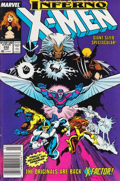 Uncanny X-Men #242 Comic Books - Covers, Scans, Photos  in Uncanny X-Men Comic Books - Covers, Scans, Gallery