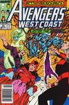 Avengers West Coast #53 comic books for sale