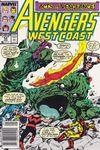 Avengers West Coast #54 comic books for sale