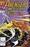 Avengers West Coast #63 comic books for sale