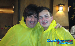 Dan Schneider and Noah Munck in Ponchos