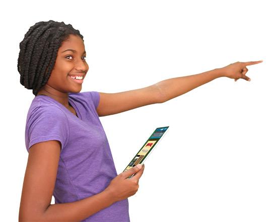 Girl with Streaming Plus iPad