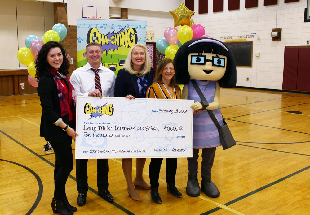 "Jackson Charitable Foundation and Discovery Education Announce ""Cha-Ching Money Smart Kids!"" Elementary School Contest Winner"