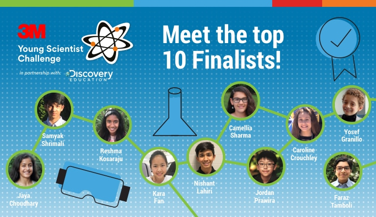 3M AND DISCOVERY EDUCATION ANNOUNCE NATIONAL FINALISTS AND  STATE MERIT WINNERS IN 2019 3M YOUNG SCIENTIST CHALLENGE