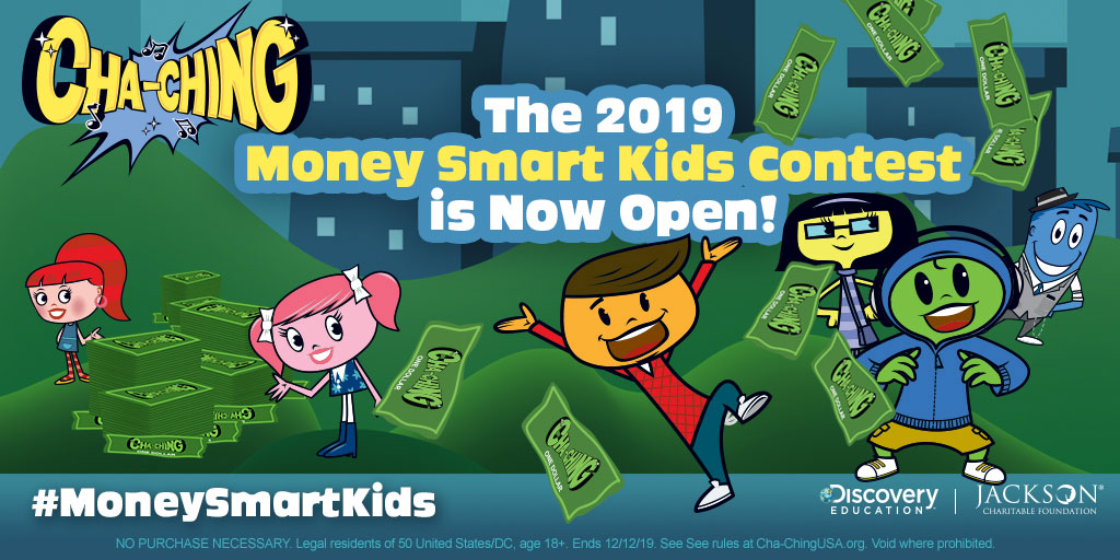 "Jackson Charitable Foundation and Discovery Education Launch Third Annual ""Cha-Ching Money Smart Kids Contest"" to Encourage K-6 Grade Students to Become Financially Empowered Adults"