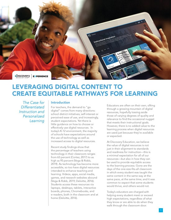 Discovery Education Experience White Paper Preview