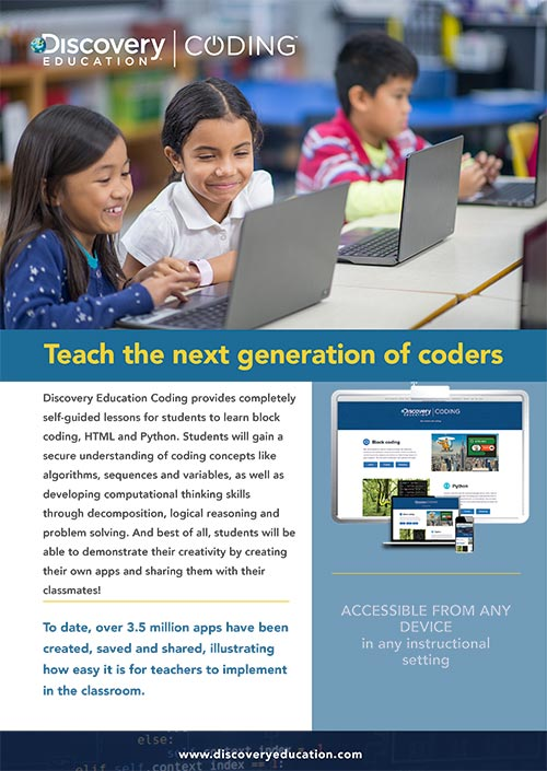 Discovery Education Coding Flyer Preview