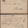 Switzerland 1878 Postal History Rare Old postcard Postal stationery Bienne to