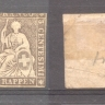 Switzerland 1854 Sitting Helvetia 5Rp Mi.13II MH     AM.293