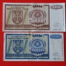 Croatia 1993 (Serbian Kraina) two inflationary notes P#R8 and R12.